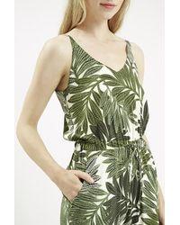 TOPSHOP - Petite Palm Leaf Print Strappy Jumpsuit - Lyst