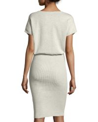 Todd And Duncan - Cotton/cashmere Ribbed Sweaterdress - Lyst