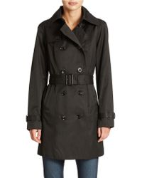 Michael Kors Plus Double Breasted Belted Trench Coat - Lyst