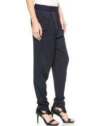 3.1 Phillip Lim Draped Pocket Trousers - Navy - Lyst