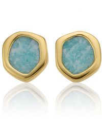 Monica Vinader - Atlantis Mini Stud Amazonite Earrings - Lyst