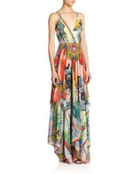 Alice + Olivia Orly Printed Maxi Dress - Lyst