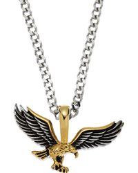 Blackjack - Silver-Tone & Gold-Tone Eagle Pendant Necklace - Lyst