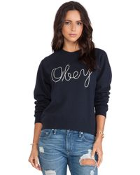 Obey Demeter Crew Sweatshirt - Lyst