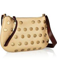 Marc Jacobs Studded Leather Shoulder Bag - Lyst
