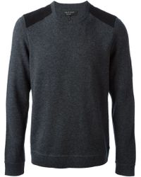 Rag & Bone Shoulder Patch Sweater - Lyst