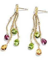 David Yurman Capri Earrings In 18K Gold - Lyst