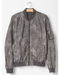 Gap Palm Print Bomber Jacket - Lyst