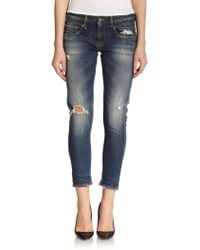 R13 Distressed Skinny Ankle Jeans - Lyst