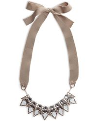 Mango Faceted Crystal Necklace - Lyst