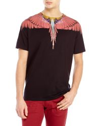 Marcelo Burlon Black & Red Alas Tee - Lyst