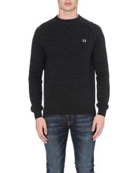 Fred Perry Logo-detailed Knitted Jumper - Lyst