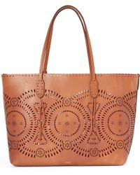Polo Ralph Lauren | Laser-cut Leather Tote | Lyst