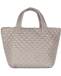 MZ Wallace - Small Metro Tote Kingsport Grey Oxford - Lyst