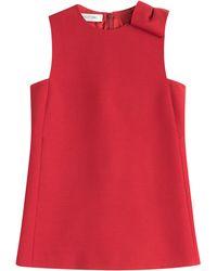Valentino Wool-Silk Top red - Lyst