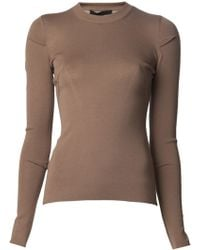 Alexander Wang Ribbed Pullover Sweater - Lyst
