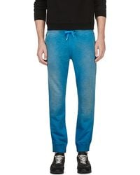 Diesel Blue Distressed Pascales Lounge Pants - Lyst