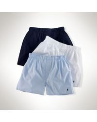 Polo Ralph Lauren Assorted Boxer Three-pack - Lyst