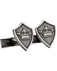 English Laundry - Crown Egraved Cufflink - Lyst