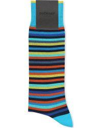 Duchamp Platinum Stripe Socks - For Men - Lyst