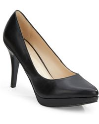 Nine West Prisilla Faux Leather Platform Pumps - Lyst