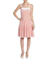 M Missoni Fan-stitch Tank Dress - Lyst