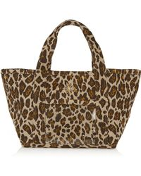 Charlotte Olympia Ami Leopard-print Canvas Tote - Lyst