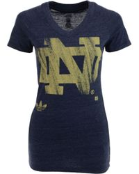 Adidas Womens Notre Dame Fighting Irish Brushed Logo Tshirt - Lyst