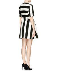 Edition10 - Mix Fabric Stripe Flare Dress - Lyst
