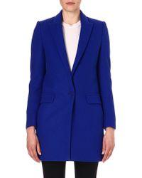 Stella McCartney Singlebreasted Woolblend Coat Blue - Lyst