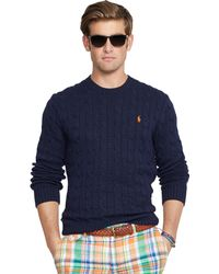 Polo Ralph Lauren Cable-knit Cotton Sweater - Lyst