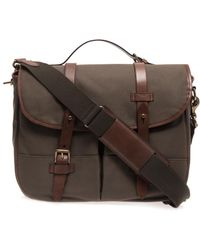 Polo Ralph Lauren - Canvas and Leather Messenger Bag - Lyst