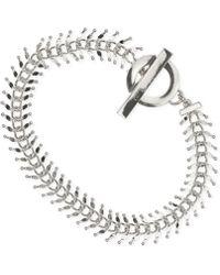 Anne Klein - Polished Chain And Bar Bracelet - Lyst
