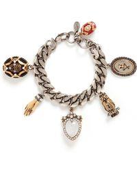 Alexander McQueen | Vintage Effect Charms Bracelet | Lyst