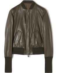 Bally Lamb Nappa Bomber Jacket - Lyst