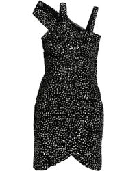 Isabel Marant Becky Sequined Silk Chiffon Mini Dress - Lyst