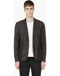 Diesel Black Sheen Blazer - Lyst
