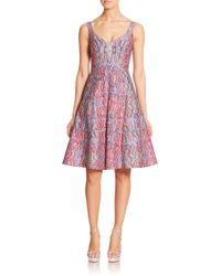 Nanette Lepore Printed Fit-&-Flare Dress purple - Lyst
