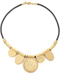 Madewell Hammered Circle Cord Necklace - Vintage Gold - Lyst