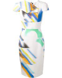 Roland Mouret Findon Panelled Dress - Lyst