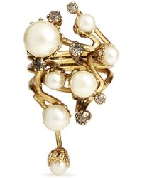 Erickson Beamon - 'stratosphere' Faux Pearl Ring - Lyst