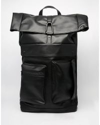 Dark Future - Backpack With Straps In Faux Leather - Lyst