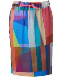 Paul Smith Geometric Print Skirt - Lyst