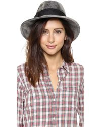 Eugenia Kim Bianca Hat Gray Marble - Lyst