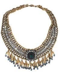 Topshop Premium Beaded Drop Collar - Lyst