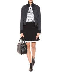 McQ by Alexander McQueen Black Stretchwool Skirt - Lyst