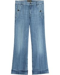 Seafarer Pacific Wide Leg Cropped Jeans - Lyst