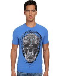 Just Cavalli Mechanical Skull Print T-Shirt - Lyst