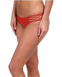 Mikoh Swimwear Rockies Crocheted Detail Side Bottom red - Lyst