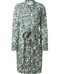 Tory Burch 'Issy' Floral Blouse Dress green - Lyst